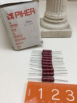 10x Piher Carbon Film Resistors Made Spain 7771 5 Vintage Nos From Original Box