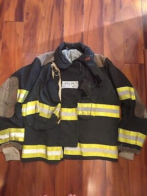 Firefighter Globe Turnout Bunker Coat 44x29 Black Halloween Costume