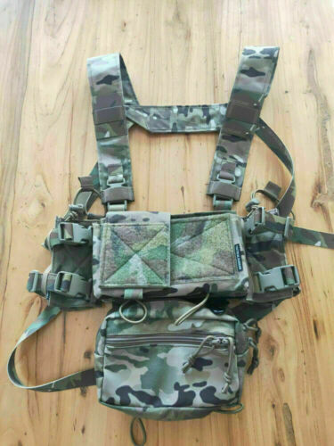 CP Multicam Tactical SS Micro Fight Chassis MK3 MK4 Chest Rig 500D Multicam