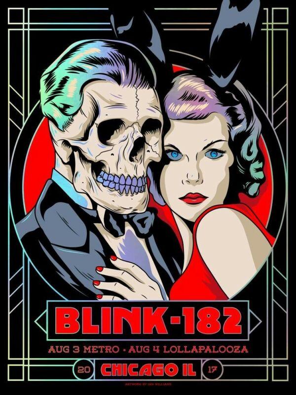 Blink 182 Foil Tour Poster