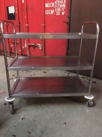 Stainless steel catering trolley