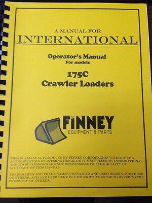 Ih International Dresser 175c Crawler Loader Operators Maintenance Manual Book E