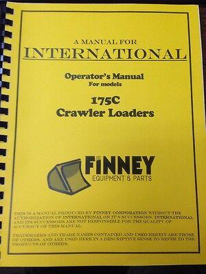 Ih International Dresser 175c Crawler Loader Operators Maintenance Manual Book E