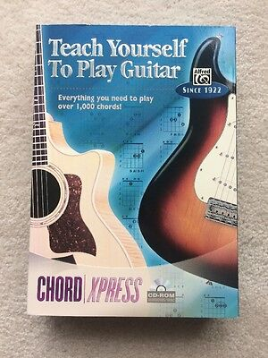 Teach Yourself To Play Guitar Cd Rom Software Chord Express New