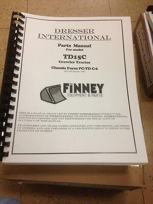 International Dresser Td15c Dozer Crawler Parts Book Manual Bulldozer Td15-c New