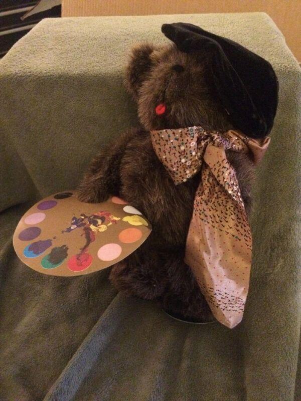 Brown Plush Leonardo Bear Artist Kent Collectibles 1985 Jean Steele Originals