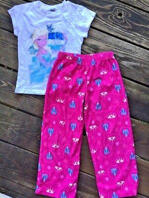 SALE @ DISNEY FROZEN Queen Elsa & Fairy Princess Castle Pajamas Girls Sz 6 - Girls Pajama Sale
