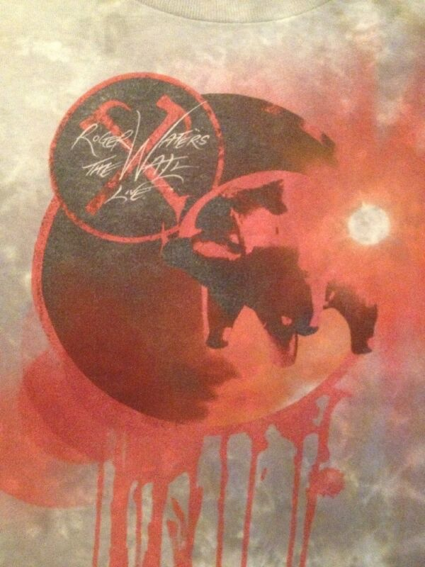 Rare Vintage 2012 Roger Waters Pink Floyd The Wall Tour Live Shirt 2XL Concert