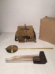 NOS! Vintage 351-020 19cm FRANZ HERMLE  CLOCK MOVEMENT Pendulum & Chime Rod