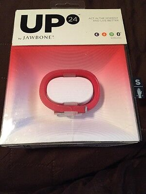 UP 24 BY JAWBONE FITNESS ACTIVITY WRISTBAND  - NEW - RED - SMALL