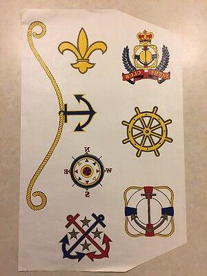 Vintage T-shirt Heat Transfer Yacht Club Nautical Theme Printssymbols