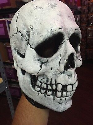 Halloween 3 Season Of The Witch Skull Adult Mask w/ Attached Shamrock Button Tag - Halloween 3 Season Of The Witch Masks