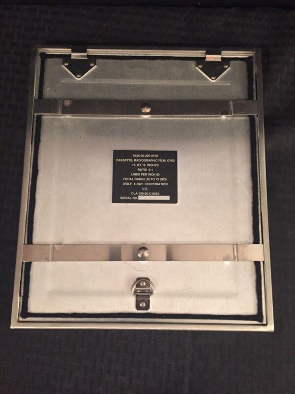 "Wolf X-ray Radio Graphic Film Grid Cassette 10x12"" Ratio 6:1 28-72"" Focal Range"