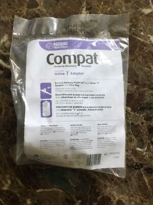 "Compat Enteral Delivery Pump Set 1000mL Vinyl Feed Bag & In-line ""Y"" Adapter."