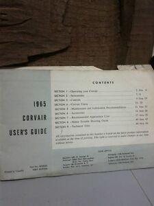 1965 CORVAIR USERS GUIDE Windsor Region Ontario image 5