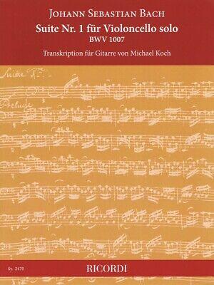 Suite No. 1 for Cello Solo BWV 1007 Sheet Music transcription GUITAR 050602062