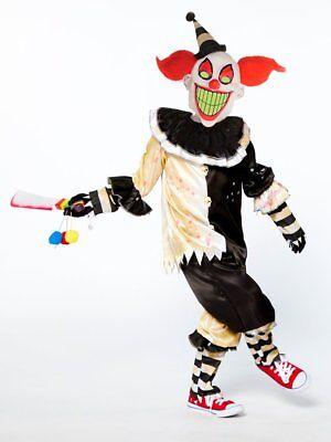 Boys Scary Clown Costume Teen Kids Halloween Carnival Nightmare Fancy Dress
