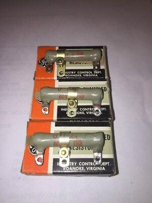 Ge 10 Watt Vitreous Enameled Wire Wound Resistors 3000 Ohms 3k Nos Lot Of 3