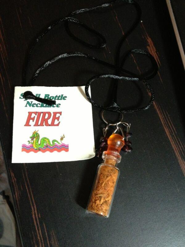 Spell Bottle Necklace Fire