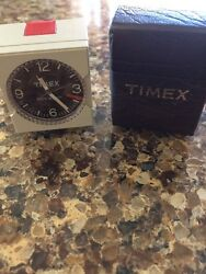 Vintage TIMEX Mini-Alarm w/ Case Travel Alarm Clock - Needs Work ships fast!