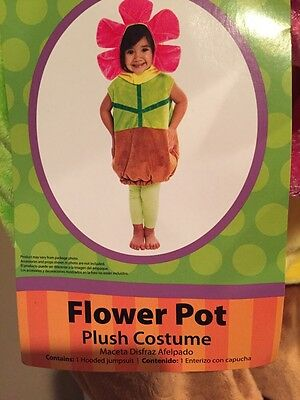 Girl's Plush Flower Pot  Halloween Costume Dress Up 2T  NWT