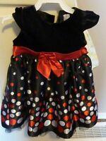 Black Polk-A-Dot Dress - Size 2T