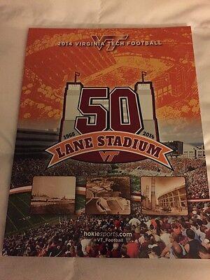 2014 VT VIRGINIA TECH HOKIES FOOTBALL GUIDE FRANK BEAMER 50th Virginia Tech Hokies Football
