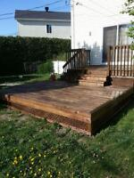deck  restauration  stain wash  sand.