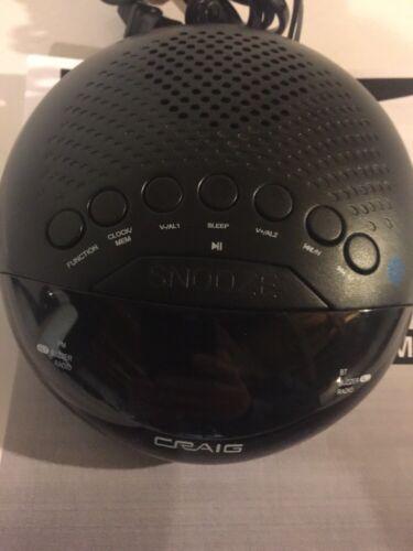 Craig Dual Alarm Clock Radio with Bluetooth & 0.6″ Display AM/FM Radio W /Manual