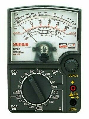 Sanwa Analog Multi Tester Impact Meter Sp-20-p 4981754001108