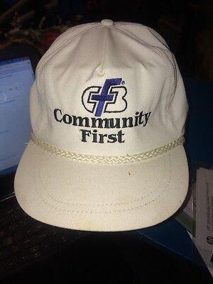 Trucker Hat Baseball Cap Community First Cfb Bank White  Cool Lid Old School
