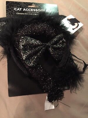 Cat Accessory kit Halloween accessory kit for Cat costume headband bow tail