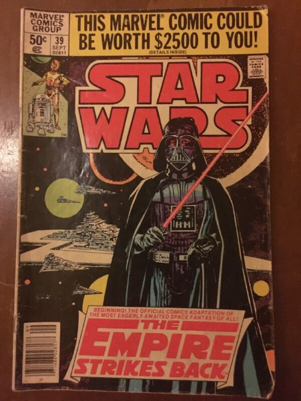 Star Wars Marvel Comics Group Volume No. 39; 50 cents  1980