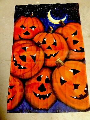 25x38 Fall JackOlanterns Pumkins Harvest Halloween LARGE FLAG