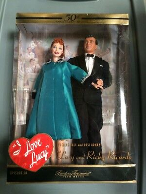 Barbie I Love Lucy With Lucy And Ricky Ricardo 50th Anniv. Edition NRFB MINT NEW - Lucy And Ricky Ricardo
