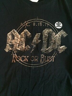 AC/DC Rock Or Bust T Shirt New York City Webster Hall Launch Party 2014 Large L](Party City Webster)