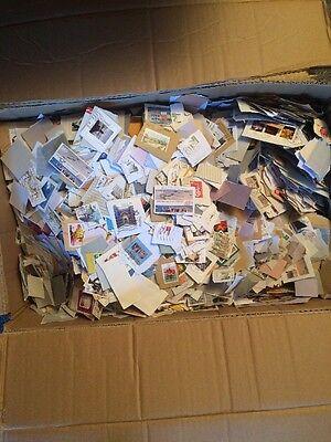 Briefmarken Slot ca. 7,5 kg (Sammlung, Kilo-Ware)