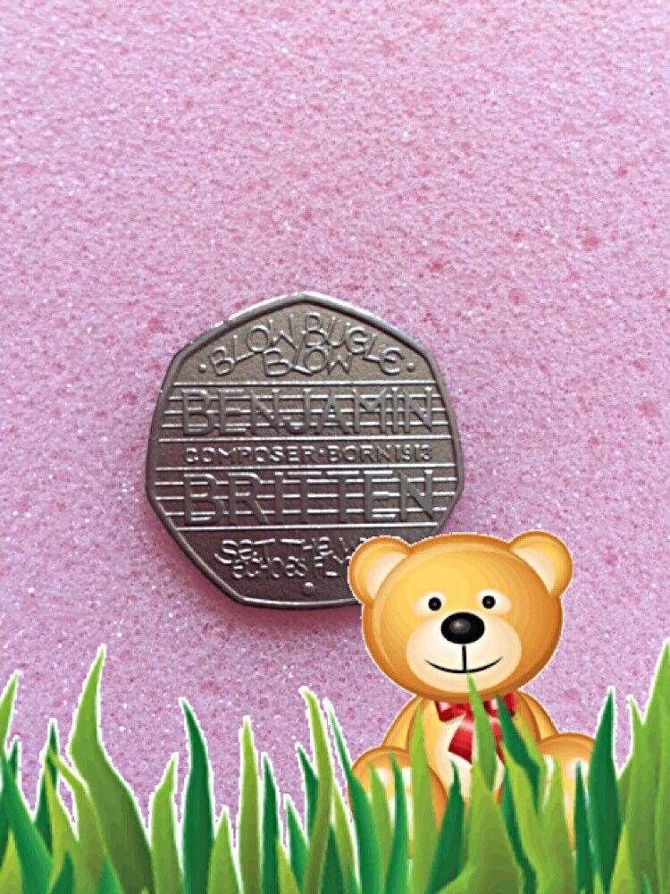 50p coin Benjamin Britten .