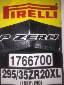 2 x Pirelli P Zero 295 35 20 xl 105y (NO) Tyres. Brand New Porsche Panamera