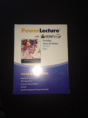 Power Lecture Dvd Psychology Themes Variations 9 Edition Weiton  With Examview