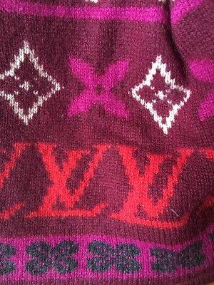 Louis Vuitton knit hat knit cap Monogram Black Bonnet ski M71951 LV d86a613fefd4