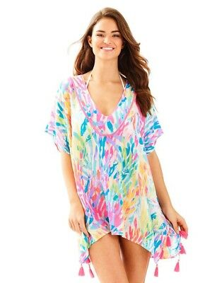 Nwt Lilly Pulitzer El Bravo Way Cover Up Multi Sparkling Sands Xxs Xs