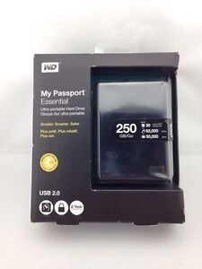 Western Digital My Passport Essential 250 GB USB 2.0 Portable External HD