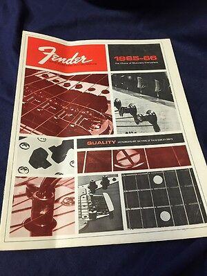 Fender Fine Electric Instruments 1965-66 Catalog Vintage Reprint
