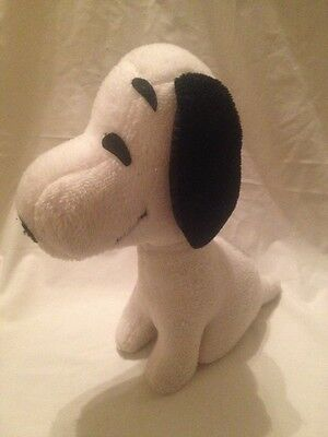 "Snoopy Plush Stuffed Determined Productions 12"" VTG Dog Peanuts Sitting"