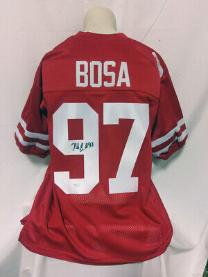 b63d0df1602 NICK BOSA SAN FRANCISCO 49ERS SIGNED AUTOGRAPHED CUSTOM JERSEY JSA