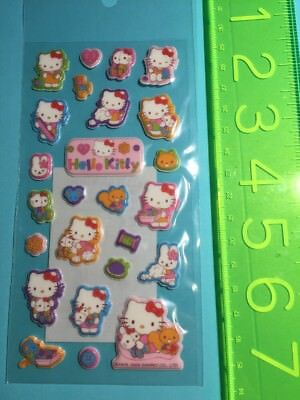 New Sanrio Original Hello Kitty 2008 Puffy Stickers Sticker Sheet Rare Vintage