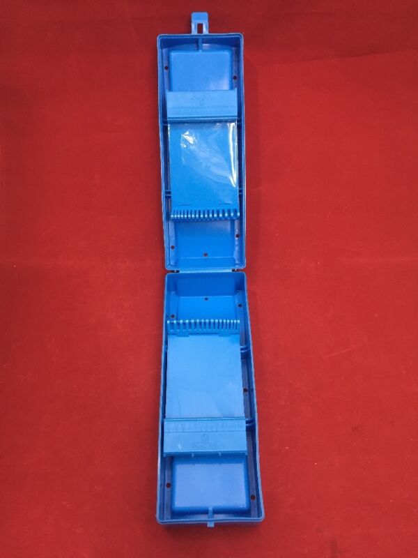 Zimmer Wire & Pin Sterilizing Storage Container Blue Plastic Case Great Cond.
