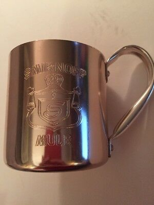 Vintage Smirnoff Moscow Mule Metal Copper Color Mug Cup Hong Kong
