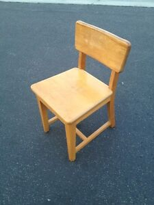 Vintage mid century modern wood desk chair heywood for Z furniture outlet santa ana